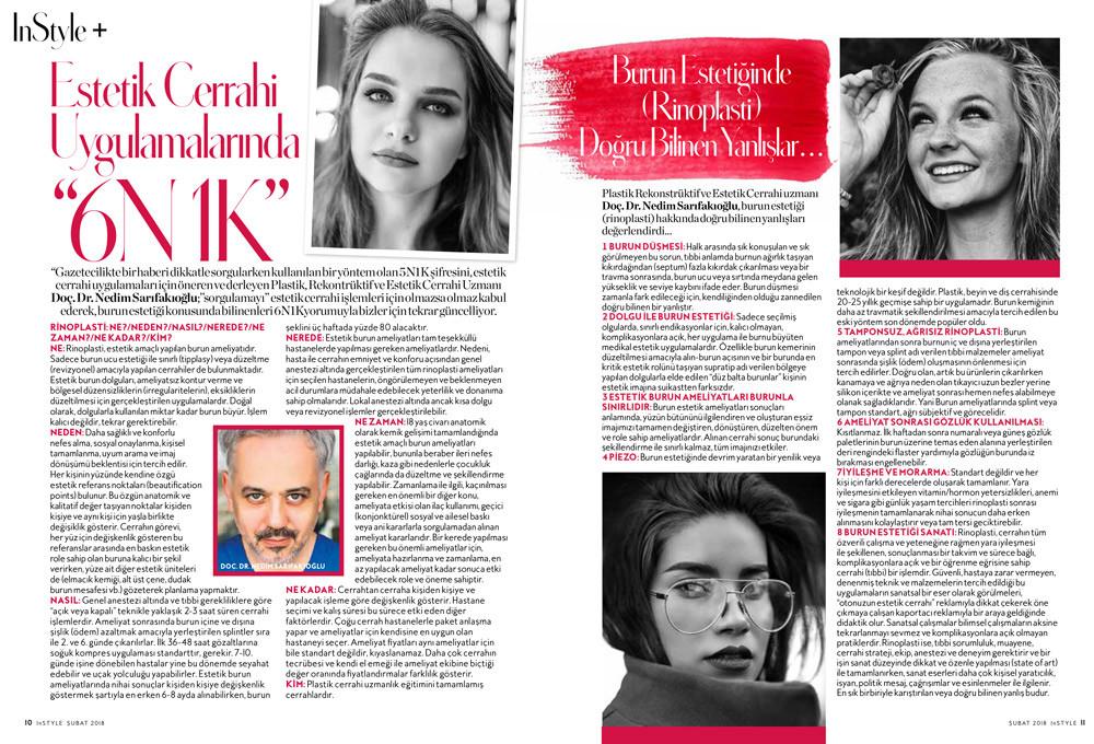 Nedim Sarıfakıoğlu inStyle Dergisi